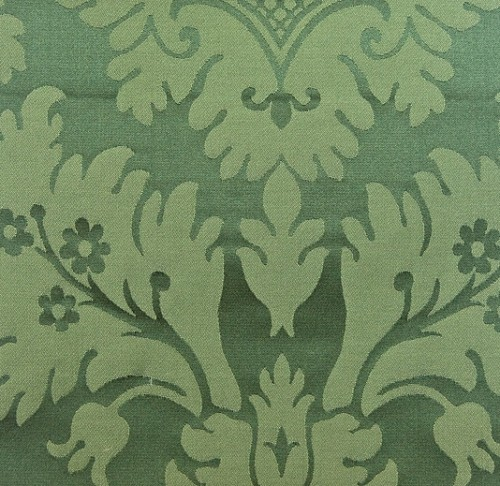 green silk damask