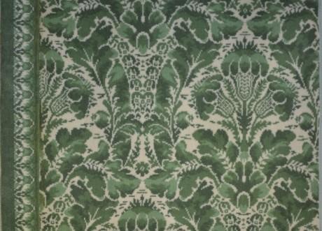 green velvet carpet