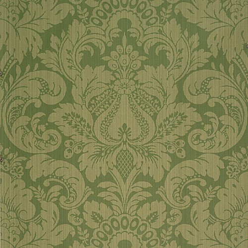 damask wallpaper striped green